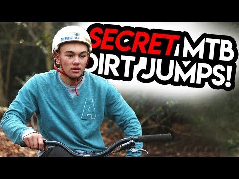 Building SECRET MTB DIRT JUMPS in the Woods!