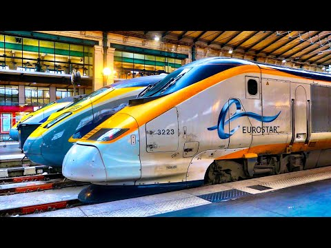 EUROSTAR, Standard Premier, LONDON TO PARIS at 186mph!