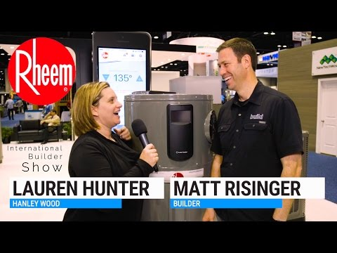 2017 Rheem Hybrid Electric Water Heater - Whats new from the International Builder Show