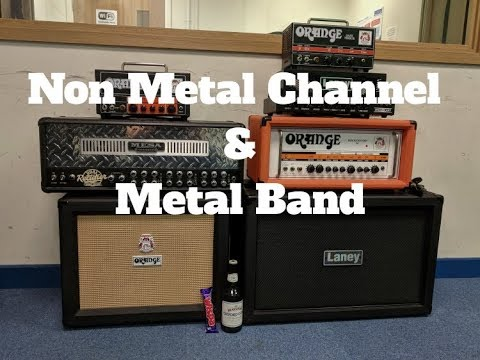 My NON-Metal Channel and Re-Amping Test With New(ish) Metal Band