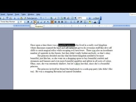How to Delete Underlines on Sentences in Microsoft Word : Microsoft Word & Excel