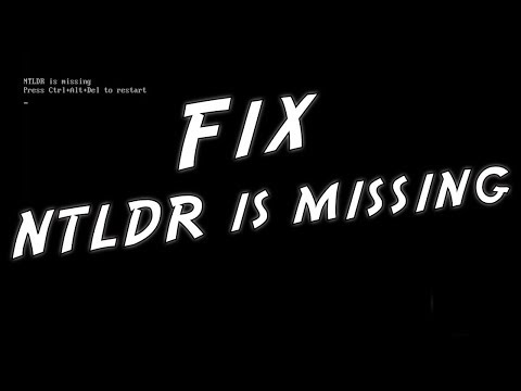 HOW TO FIX NTLDR IS MISSING