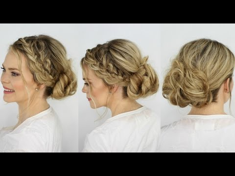 Waterfall French Braid Messy Bun | Missy Sue