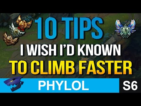 10 TIPS I wish I had known to CLIMB FASTER (League of Legends)