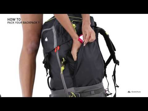 Quechua - How to pack your backpack