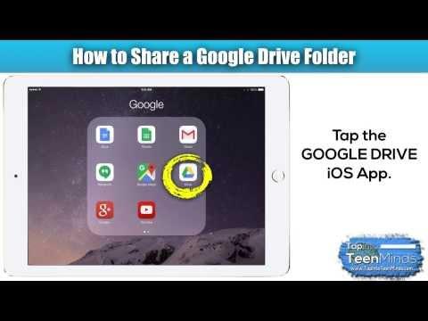 How to Create a Shared Google Drive Folder on the iPad iOS App