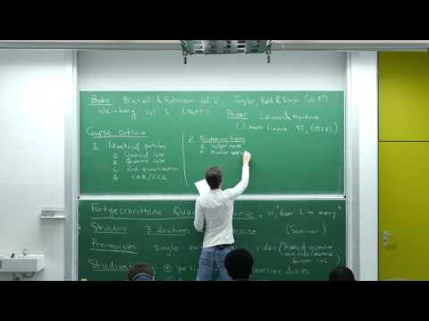 Advanced quantum theory, Lecture 1