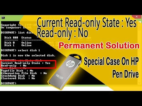 How to fix Current read only state yes on flash drive