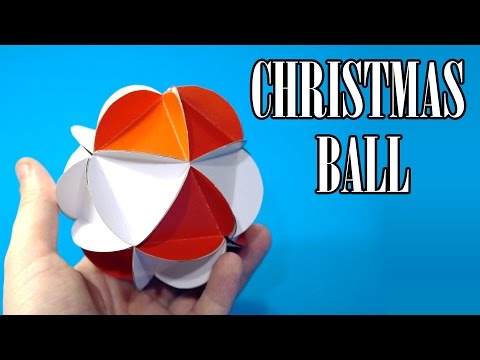 How to make a Paper Ball Christmas Ornaments