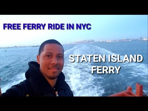 Manny Explores - Riding a ferry for free in NYC | Staten Island Ferry