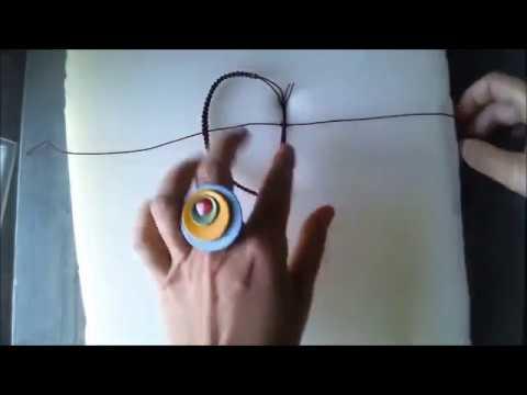 Macrame Bracelet step by step square knot
