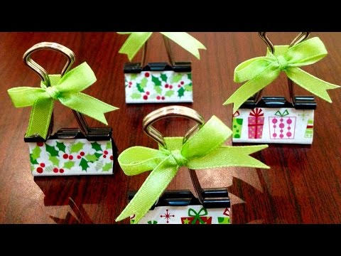 How To Make Binder Clip Place Card Holders - DIY Crafts Tutorial - Guidecentral