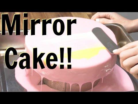 How To Make A MIRROR GLAZE CAKE!- CAKE STYLE