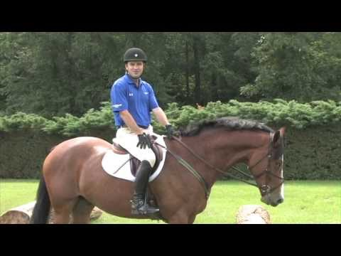International Eventer Phillip Dutton Training Tip:  Introducing Your Horse to Cross Country Jumps.