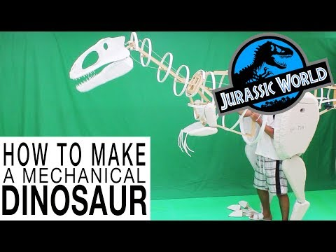 My new fully functional mechanical dinosaur costume video