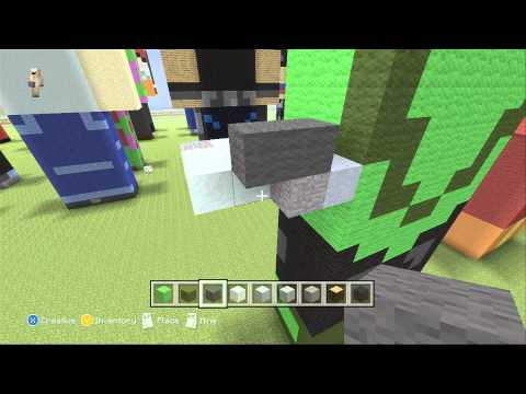 Minecraft Green Lantern Statue- Tutorial
