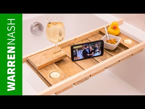 Make a Pallet Bath Caddy in a DAY - With Wine Glass Holder - Easy DIY by Warren Nash