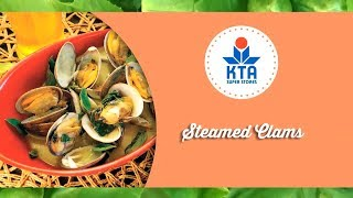 Steamed Clams By Chef Maka Kwon