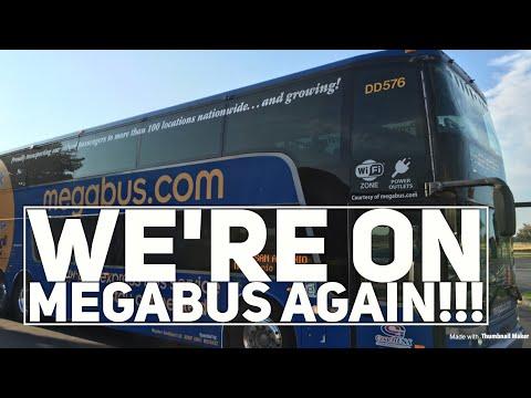 We're On Megabus Again!!!