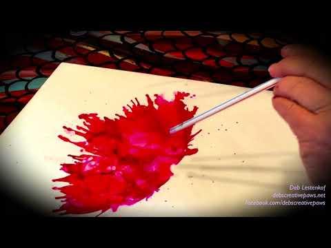 ALCOHOL INK DANCER by Artist Deb Lestenkof