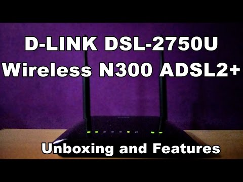 D-link DSL 2750U wireless Router- Unboxing and features
