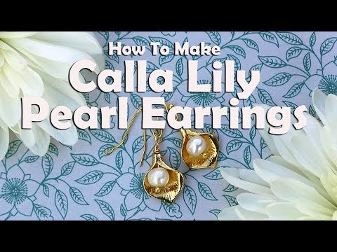 How To Make Calla Lily Pearl Earrings