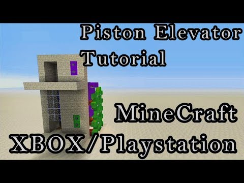 Piston Elevator Tutorial For Minecraft XBOX/Playstation