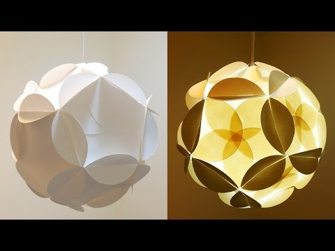 Shadow star lamp - how to make a spherical lampshade covered with flowery stars - EzyCraft