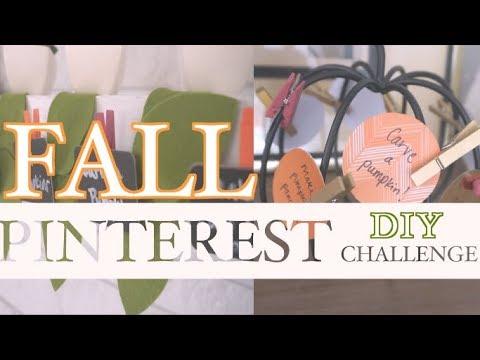Easy DIY Fall Bucket List | Fall Pinterest Challenge