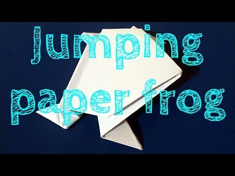 How To Make A  Paper Frog That Jumps