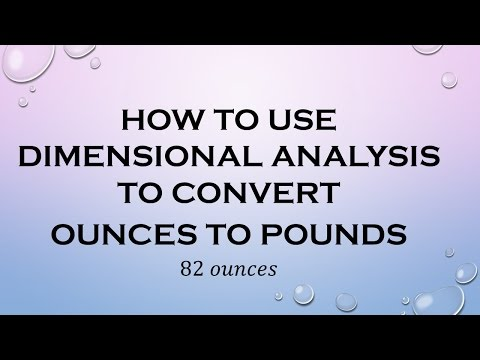 How to Use Dimensional Analysis to Convert Ounces to Pounds