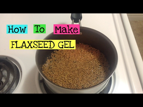 How to make FLAXSEED GEL with roasted flaxseeds