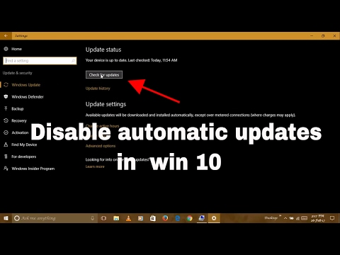 How to disable automatic update in win 10 |for win professional n home|