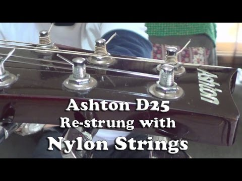 Ashton D25 Acoustic Guitar Re-strung with Nylon Strings