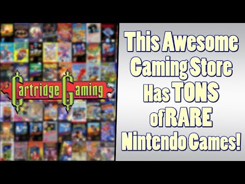 Nintendo Themed Cartridge Gaming is an Awesome Gaming Store!