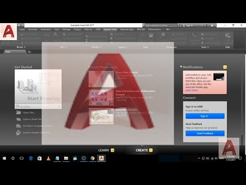 Introduction to AutoCad 2017 | First Look After Installing AutoCad 2017