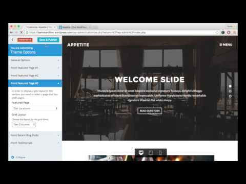 Appetite: Front Page Featured Page (Grid Layout)