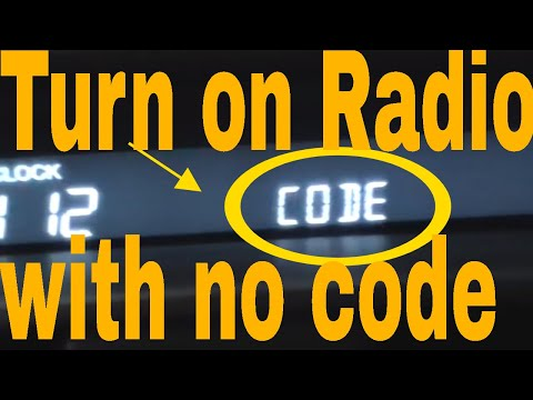 Acura tl radio code instructions / test.
