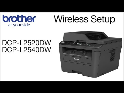 Wireless Setup without using a USB cable DCPL2520DW DCPL2540DW