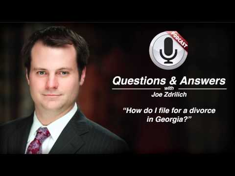 How do I file for a divorce in Georgia?
