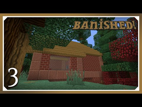 Minecraft Banished Modpack | Shelter! | E03 (Harsh Survival Minecraft 1.10.2)