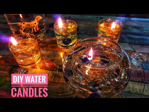 How To Make The Water Candles - DIY Burning Water Candle In Easy Way