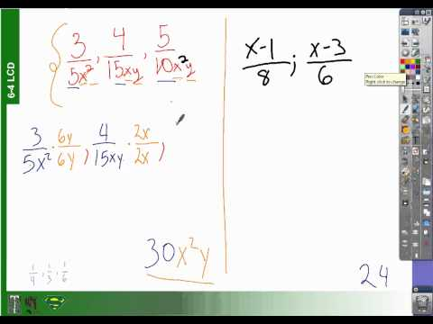 6-4 how to find least common denominators (with variables expressions)