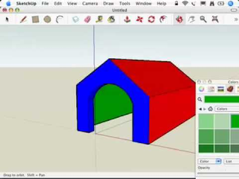 SketchUp: Slapping on some paint
