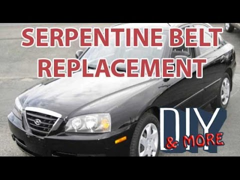 DIY HOW TO CHANGE SERPENTINE BELT AND IDLER PULLEY ON 2006 HYUNDAI ELANTRA