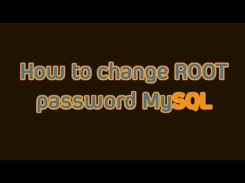 MySQL: How to change password