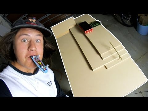 D.I.Y FINGERBOARD SKATEPARK IN ONE DAY CHALLENGE!