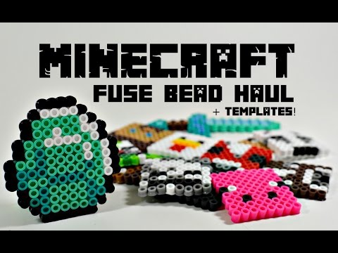 Minecraft Perler Fuse Hama Beads Fan Art Haul + Templates!
