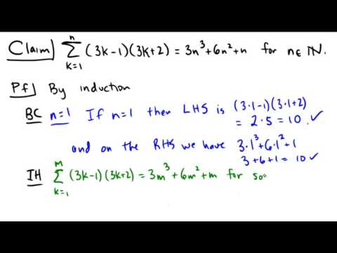 Induction proof for a summation identity
