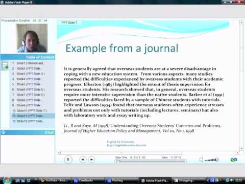 How to write a literature review Part 3